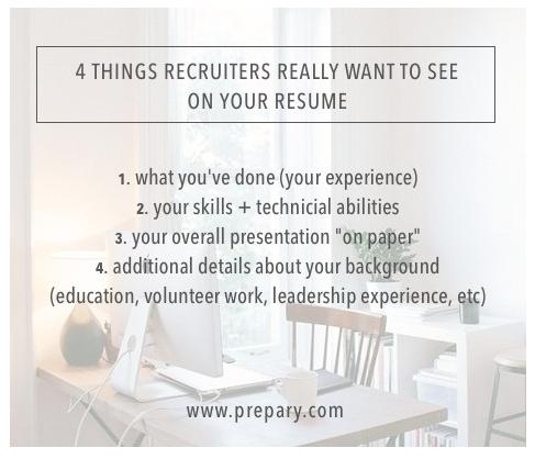 resume recruiters will read