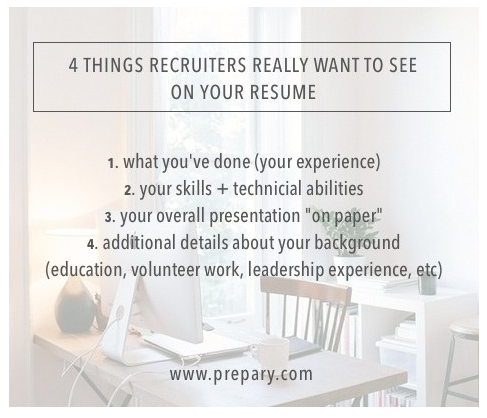 resume recruiters will read
