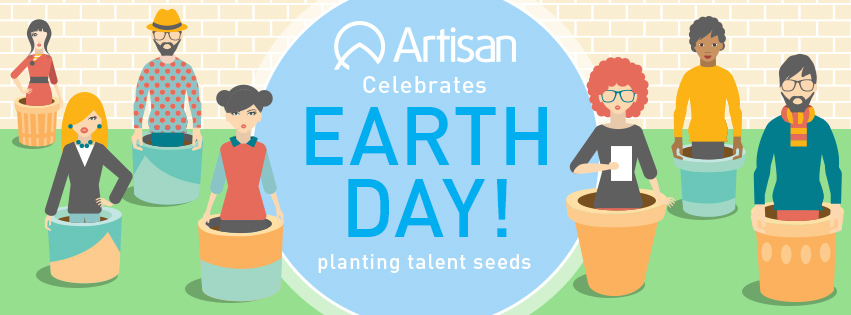 Artisan Talent - Go Green with your job search - Earth Day