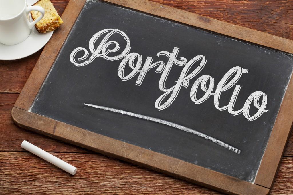 portfolio word on blackboard