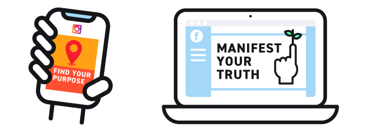 Social Media reminders: Find Your Purpose and Manifest Your Truth