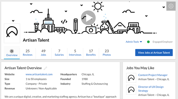 Artisan Talent How To Use Glassdoor To Find A Job