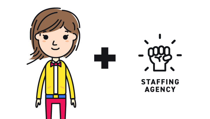 How does a staffing agency work with an HR manager