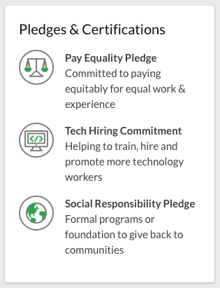 Glassdoor Pledges